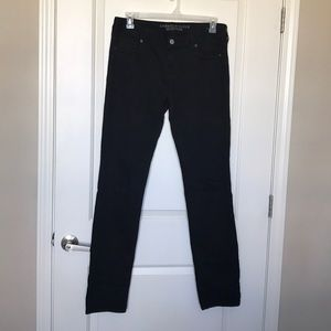 AEO •Skinny Super Stretch Black Jeans Sz 14 X-Long